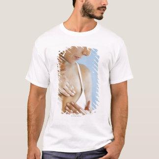 Woman doing breast self exam 2 T-Shirt