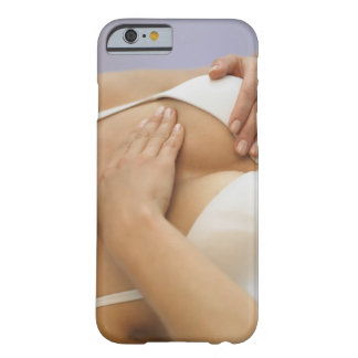 Woman doing breast self exam barely there iPhone 6 case