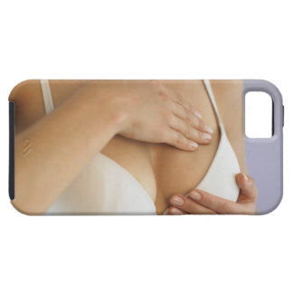 Woman doing breast self exam iPhone SE/5/5s case