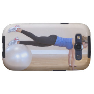 Woman doing exercise pose samsung galaxy s3 cover