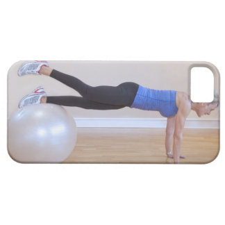 Woman doing exercise pose iPhone SE/5/5s case