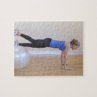 Woman doing exercise pose jigsaw puzzle