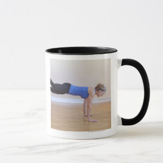 Woman doing exercise pose mug