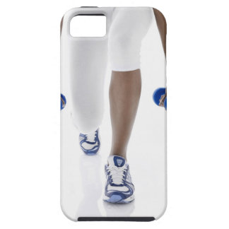 Woman doing lunges with dumbbells (low section) iPhone SE/5/5s case