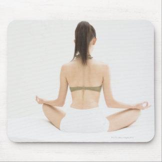 Woman doing yoga mouse pad