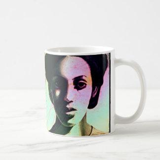 woman double classic white coffee mug