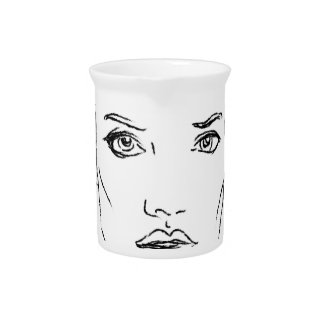woman drink pitcher