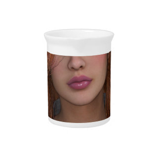 woman drink pitchers