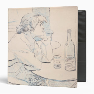 Woman Drinker, or The Hangover, 1889 Vinyl Binder