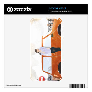 Woman Drinking iPhone 4 Decals