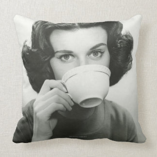 Woman Drinking Pillow