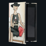 "Woman Drinking Red Wine Case For iPad Mini<br><div class=""desc"">© Andrea Laliberte / Wild Apple.  An image of a woman holding a half full glass of wine. The woman is wearing a black dress and hat,  and has a red bag.</div>"