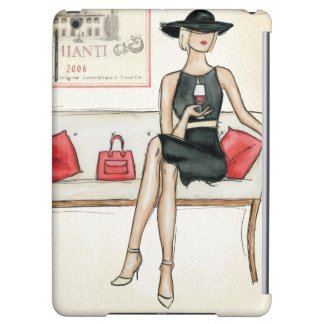 Woman Drinking Red Wine iPad Air Covers