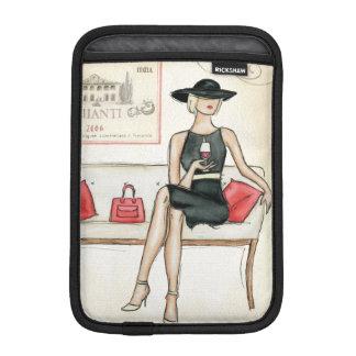 Woman Drinking Red Wine Sleeve For iPad Mini