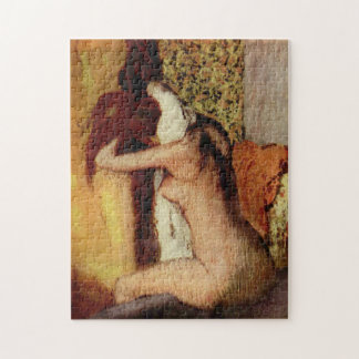 Woman Drying Her Neck by Edgar Degas Jigsaw Puzzle