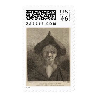 Woman, Easter Island Postage