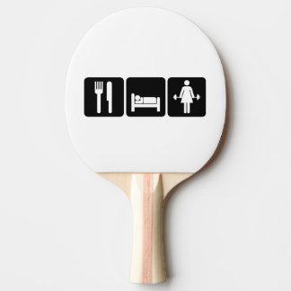 Woman Eat Sleep Lift Weights Ping Pong Paddle