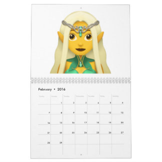 Woman Elf - Emoji Calendar