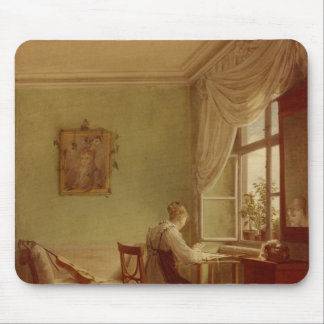 Woman Embroidering, 1812 Mouse Pad