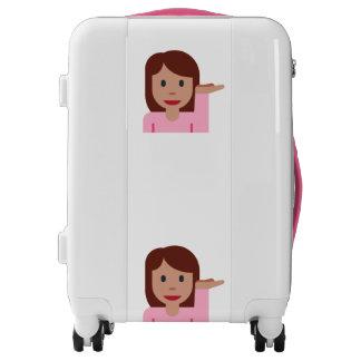 woman emoji luggage