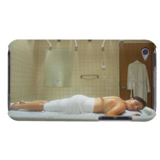 Woman enjoying hydrotherapy in vichy shower barely there iPod cover