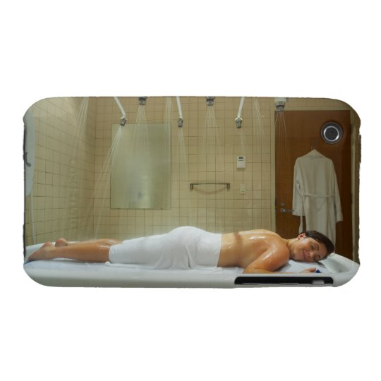 Woman enjoying hydrotherapy in vichy shower iPhone 3 Case-Mate case