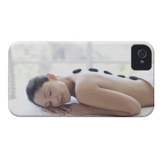 Woman enjoying lastone therapy iPhone 4 case