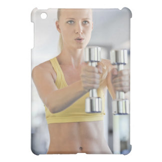 Woman exercising with weights case for the iPad mini