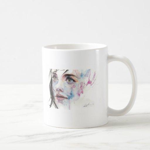woman expression mug