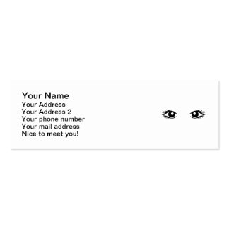 Woman eyes business card