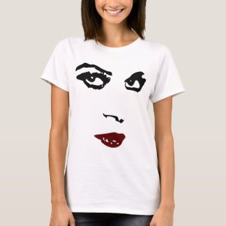 Woman face, charcoal drawing digitalized T-Shirt