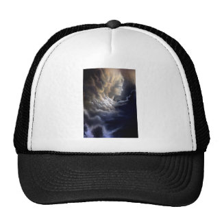 Woman Face in Clouds Trucker Hat