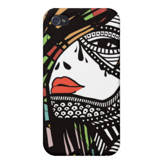 Woman Face iPhone 4 Cases