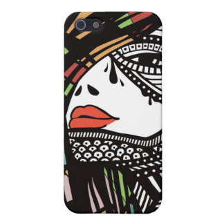 Woman Face iPhone 5 Cases