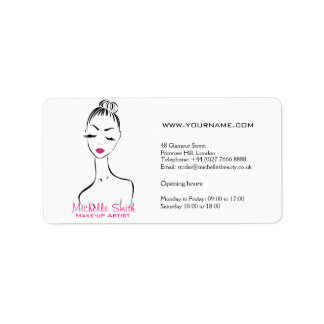 Woman face Make-up artist company branding Label