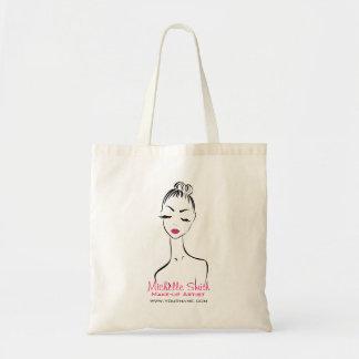 Woman face Make-up artist company branding Tote Bag