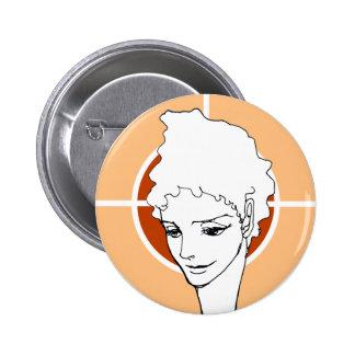 woman face MANGA  comics Pinback Button