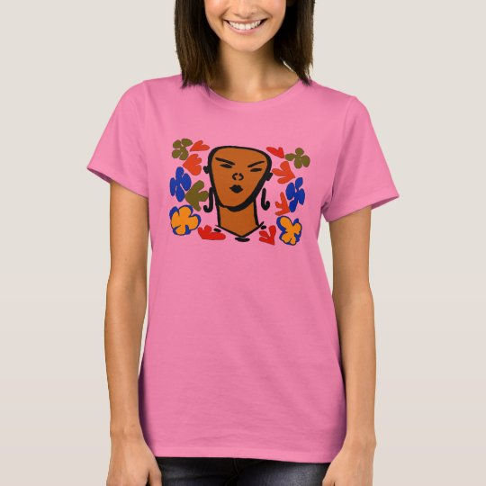 Woman Face Matisse Style T-Shirt