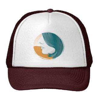 Woman Face Silhouette Trucker Hat