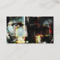 Woman Face - Surreal Art Business Card