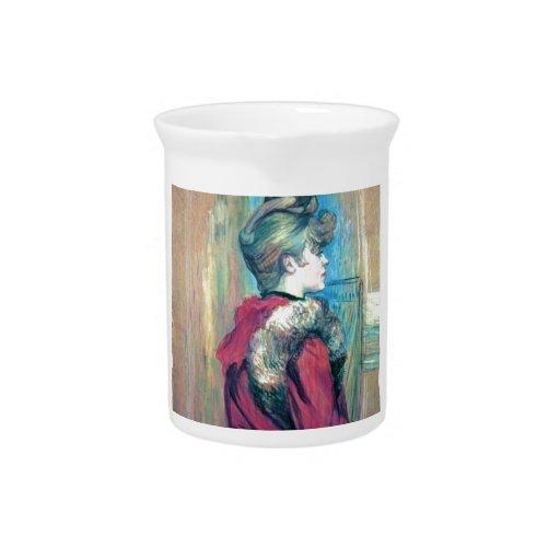 Woman fashion hair impressionism drawing beverage pitchers