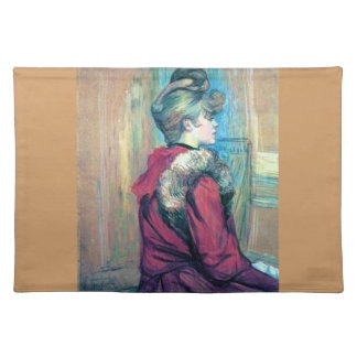 Woman fashion hair impressionism drawing placemat