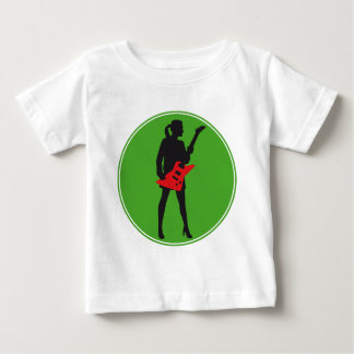 woman female e-guitar more player girl baby T-Shirt