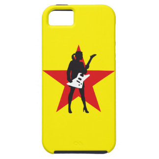 woman female e-guitar more player girl iPhone SE/5/5s case
