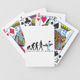 woman female evolution of dentist baraja cartas de poker