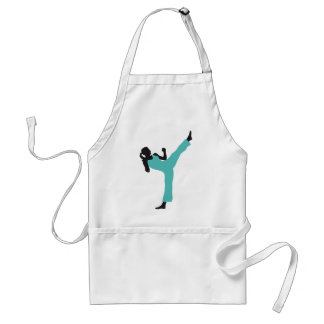 woman female martially kind more fighter more kick adult apron