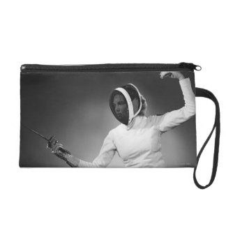 Woman Fencing Wristlet