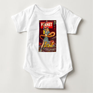 Woman Fighting Monster Baby Bodysuit