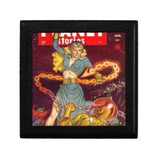 Woman Fighting Monster Jewelry Box