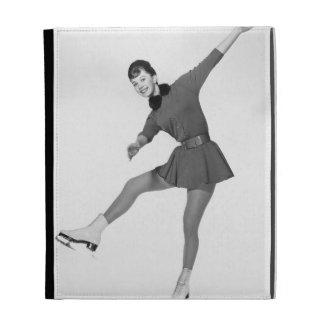Woman Figure Skating iPad Cases